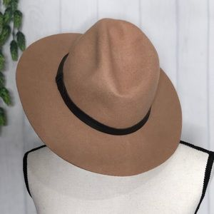 Ecote Scout Panama Hat Tan 100% Wool Belt Trim